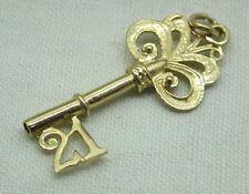 9ct Gold Fancy 21st Birthday Key Charm / Pendant