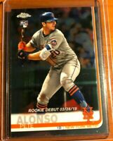 2019 Topps Chrome Update 🔥 Pete Alonso 🔥 Rookie Debut & AS NY Mets #52 LOT MNT