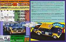 ANEXO DECAL 1/43 FIAT 131 ABARTH M.VERINI RAC 1977 (01)