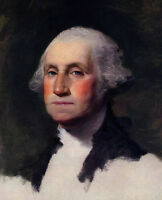 Gilbert Stuart Portrait Painting of George Washington Canvas Fine Art Print New