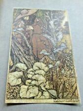 Original 1909 Arthur Rackham Tipped in Book Plate Art Nouveau
