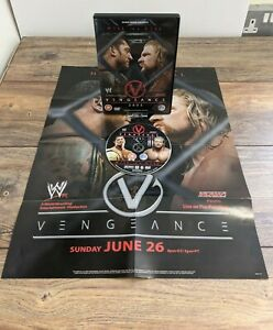 WWE Vengeance 2005 DVD with Ultra Rare Original Pay Per View Poster