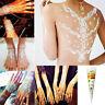 White Natural kit Herbal Henna Temporary Tattoo Cones Body Art Paint Mehandi Ink
