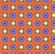 Geometric on Orange - Cats, Bats & Vats - Clothworks Fabric Half Yard