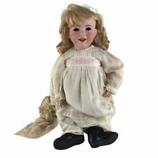 """Antique SFBJ 236 French Bisque Character Laughing Baby Doll 27"""" Needs Stringing"""