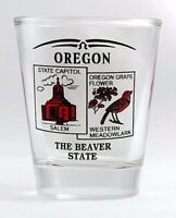 OREGON STATE SCENERY RED NEW SHOT GLASS SHOTGLASS