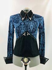 Large Western Show Pleasure Rail Shirt Jacket Clothes Showmanship Horsemanship