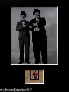 LAUREL and HARDY signed autographs PHOTO DISPLAY Stan Laurel Oliver Hardy