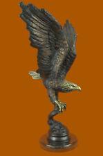 Collectible Statue bronze sculpture Sign Original Art Deco Large Eagle Figurine