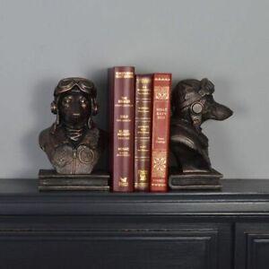 Dog Pilot Bookends unique book ends for dog lover