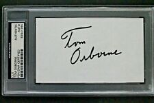 Tom Osborne Nebraska Coach 3x National Title Autograph 3x5 Index Card Signed PSA