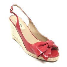 Women's Valentino Slingback Pump Heels Shoe Size 38 EU/8 M Red Patent Leather G2