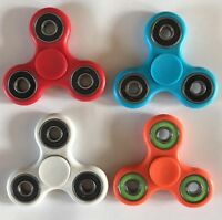 4 x NEW FIDGET FINGER SPINNER HAND FOCUS SPIN EDC BEARING STRESS TOY, 4 Colours