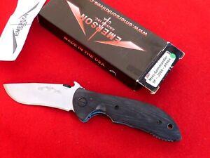 "Emerson Mini-Commander SF wave 2005 mint in box (3.3""plain) knife"