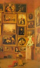 Vintage Art Samuel F B Morse Gallery of the Louvre Wall of Painting Victorian