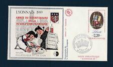 RARE  BLOC   CNEP   NUM. 11   Lyonnais  surcharge   1989  sur enveloppe  rge