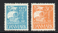 Denmark 25 & 30 Ore c1927 Mounted Mint Stamps (2442)