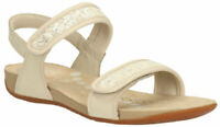 Clarks Air Spring FX Girls RIO FEVER Sandals in Cream Leather Sparkling Detail