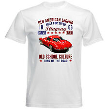 VINTAGE AMERICAN CHEVROLET CORVETTE STINGRAY 1963 - NEW COTTON T-SHIRT
