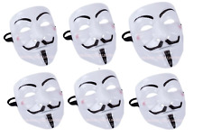 6X Vendetta V Face Mask Halloween Bonfire Night Guy Fawkes Anonymous Fancy Dress