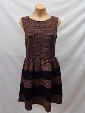 Bar III Women's Sleeveless Ponte-Knit Jacquard Flared Dress, Nocturne Combo, XL