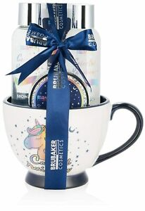 BRUBAKER Unicorn Body Care Gift Set Colorful Rainbow in XXL Jumbo Mug Cup