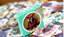 1 box 46 PCS owl stationery paper album Scrapbooking Diary label stickers gift