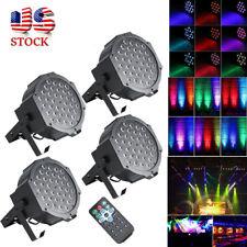 4PCS 72W 36 LED RGB Stage Lighting PAR Light +4 Remote DMX Party Disco DJ Lights