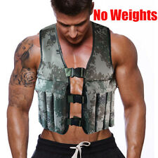 Empty Adjustable Camo Workout Weight Weighted Vest For Exercise Training Fitness