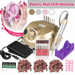 30000rpm  Electric Nail Drill Machine Pedicure Manicure Art Nail File Drill Bits