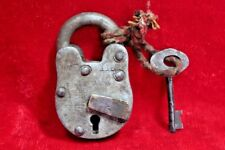 Iron Lock and Key Old Vintage Antique Collectible BE-67