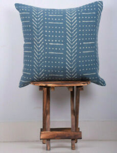 Gray Handloom Sofa Pillow Cover Cotton Throw Cushion Cover Mudcloth Cushion Case