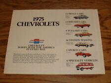 Original 1975 Chevrolet Car & Truck Full Line Sales Brochure 75 Chevy Corvette