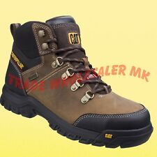 CATERPILLAR FRAMEWORK SAFETY WORK BOOTS CAT STEEL TOE CAP WATER RESISTANT