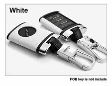 White Leather Remote Key Case Shell For CADILLAC XTS CTS SRX DTS FOB Key Cover