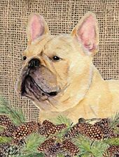 Caroline's Treasures Dog Garden Patio Outdoor French Bulldog Pinecone Flag Small