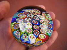 "2 1/4"" X 1 5/8"" MILLEFIORI PAPERWEIGHT beautiful rods UNKNOWN MAKER AND COUNTRY"