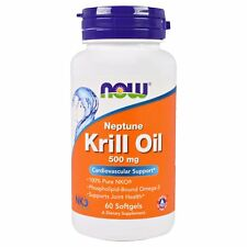 Now Foods Neptune Krill Oil - 60 - 500mg Softgels - Heart & Joint Support
