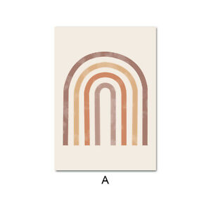 Bohemian Sunrise Abstract Canvas Art Poster Geometry Arch Wall Print Home Decor