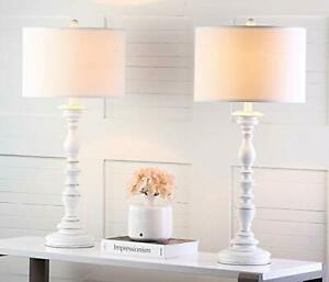 Safavieh Lighting Collection Mamie Cream Candlestick 33-inch Bedroom Living R...