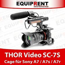 THOR Video SC-7S Cage für Sony A7 A7s A7r mit XLR-K1M Adapter und Lockport EQT23