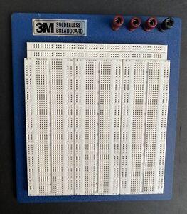 "3M Solderless Breadboard 127w/s USA 930450B Electronics 8"" X 9"""