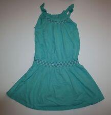 New Gymboree Girls Turquoise Embroidered Bow Dress 7 year NWT Sparkle Safari