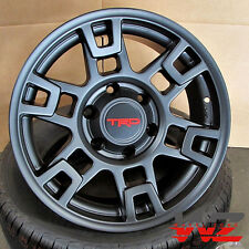 17x8 TRD Pro Style Satin Black Wheels Fits Toyota 4 Runner Tacoma Pre Runner Fj