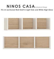 Ninos Casa 70 cm sectionné Etagère murale en oak et blanc brillant enfants bébé