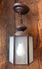 Modern six sided oil rubbed bronze exterior lantern pendant
