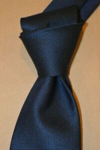 """$290 NWT TOM FORD  Navy BLUE men's 3.4"""" woven silk CASHMERE cotton tie ITALY"""