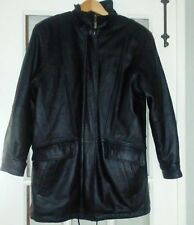 Charles Klein Women's Black Leather Jacket Detachable Lining Size Small *NICE*