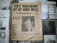 The Trentonian Newspaper April 30th 1970 Kennedy Complete