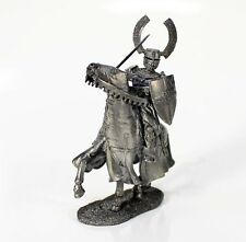 """Tin toy metal soldier """"Commander of the Teutonic Order, 13th c.""""1/32 (54mm) #50"""
